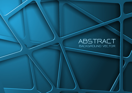 Abstract blue tone mesh line cross pattern overlap design modern futuristic background vector illustration.
