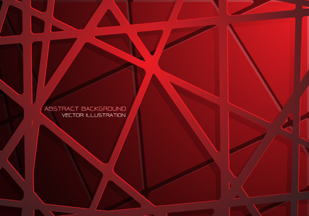 Abstract red tone mesh line cross pattern overlap design modern futuristic background vector illustration.