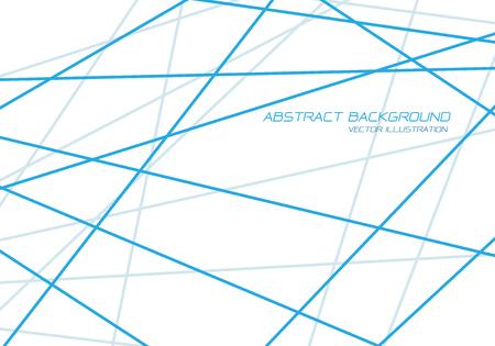 Abstract blue line tone cross overlap on white design modern futuristic luxury background vector illustration. Ilustração