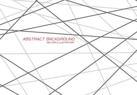 Abstract grey line tone cross overlap on white design modern futuristic luxury background vector illustration.