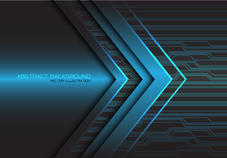 Abstract blue arrow light circuit power direction design modern futuristic technology background vector illustration.