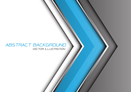 Abstract blue grey silver line arrow direction with white blank space and text design modern futuristic background vector illustration.