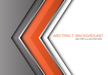 Abstract orange grey silver line arrow direction with white blank space and text design modern futuristic background vector illustration.