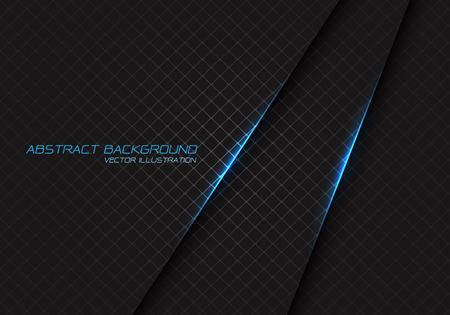 Abstract blue light on dark grey square mesh with text design modern luxury futuristic background vector illustration. Ilustração