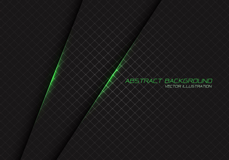 Abstract green light on dark grey square mesh with text design modern luxury futuristic background vector illustration.