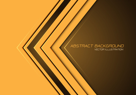 Abstract yellow arrow direction on dark blank space with text design modern futuristic background vector illustration. Ilustração