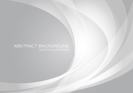 Abstract white curve light on grey design modern futuristic technology background vector illustration.