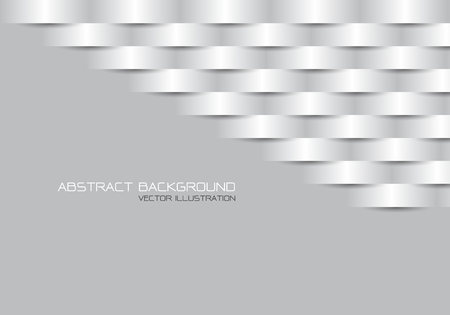Abstract grey metal line woven on grey blank space design modern futuristic background vector illustration.