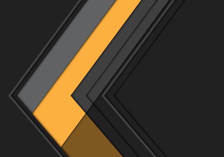 Abstract yellow grey arrow polygon direction design modern futuristic background vector illustration. Ilustração