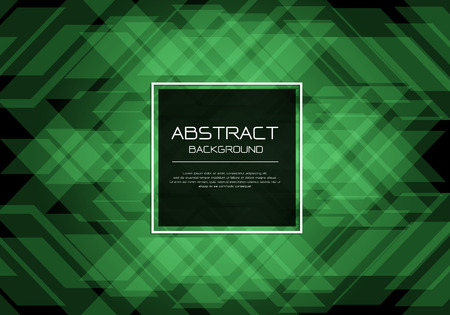 Motif émeraude vert de luxe abstrait vectoriel sur fond noir avec bannière carrée cadre blanc modèle design illustration d'arrière-plan moderne.