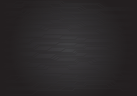 Abstract black circuit pattern background texture design modern futuristic technology vector illustration. 版權商用圖片 - 125413755