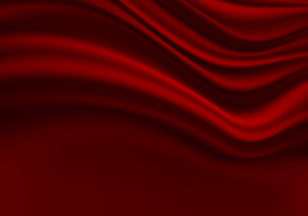 Red fabric curtain wave with black space design modern luxury background texture vector illustration. 版權商用圖片 - 125413843