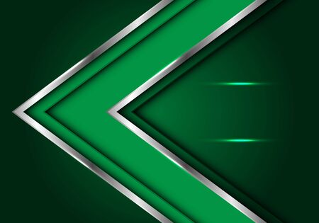 Abstract green silver line arrow direction with blank space light design modern futuristic luxury vector illustration. 版權商用圖片 - 127317958