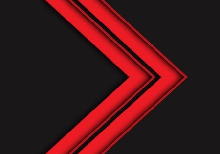Abstract red arrow direction on dark grey design modern futuristic vector illustration. 矢量图像