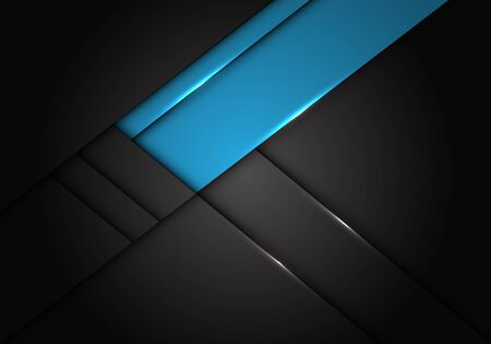 Abstract blue label overlap on dark grey metallic design modern futuristic vector illustration. 向量圖像