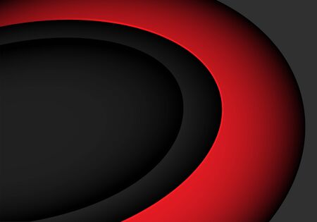 Abstract red curve on grey with blank space design modern futuristic vector illustration.