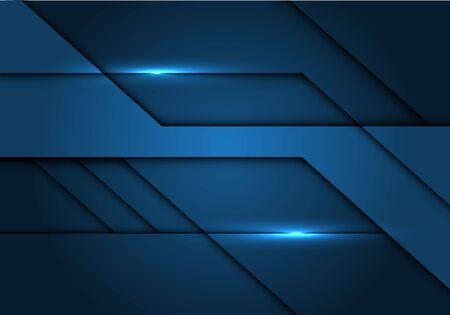 Abstract dark blue tone metallic design modern futuristic technology vector illustration. 向量圖像
