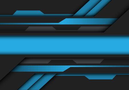 Abstract blue grey metallic banner circuit design modern futuristic technology vector illustration. 版權商用圖片 - 127317992
