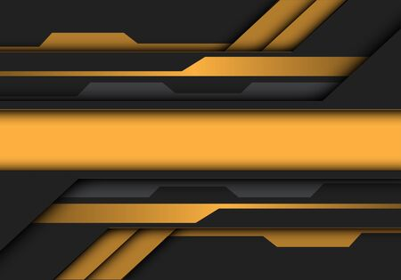 Abstract yellow grey metallic banner circuit design modern futuristic technology vector illustration. 向量圖像