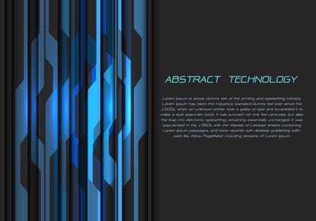 Abstract blue grey circuit power energy pattern with dark blank space and text design modern futuristic technology vector illustration.