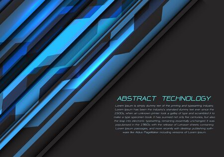 Abstract blue grey circuit power with dark blank space and text design modern futuristic technology vector illustration.