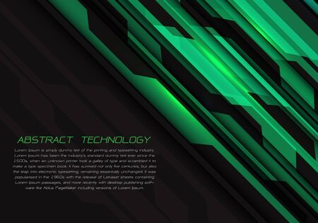 Abstract green grey circuit power with dark blank space and text design modern futuristic technology vector illustration. 版權商用圖片 - 127317999