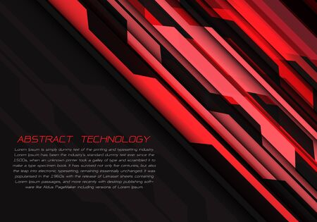Abstract red grey circuit power with dark blank space and text design modern futuristic technology vector illustration.
