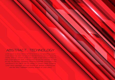 Abstract red tone circuit geometric light energy design modern futuristic technology vector illustration.