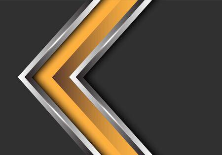 Abstract yellow silver arrow direction on grey blank space design modern futuristic vector illustration. 版權商用圖片 - 127318003