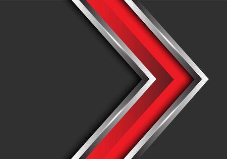 Abstract red silver arrow direction on grey blank space design modern futuristic vector illustration. 版權商用圖片 - 127318020