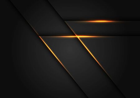 Abstract yellow light line on dark grey geometric design modern futuristic vector illustration. 向量圖像