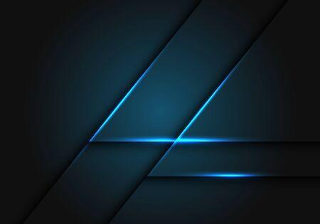 Abstract blue light line on dark grey geometric design modern futuristic vector illustration. 向量圖像
