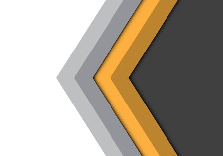 Abstract yellow grey arrow direction isolated design modern futuristic background vector illustration. Ilustração