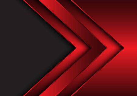 Abstract red metallic arrow direction with grey blank space design modern futuristic background vector illustration. 版權商用圖片 - 129560745