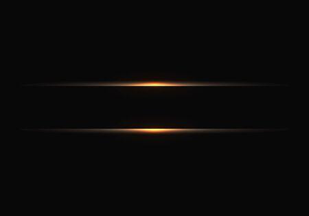 Abstract gold line banner on black design modern futuristic background vector illustration. 向量圖像