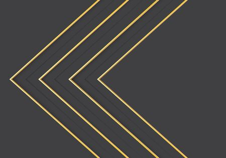 Abstract gold line arrow direction on grey design modern luxury futuristic background vector illustration. 向量圖像