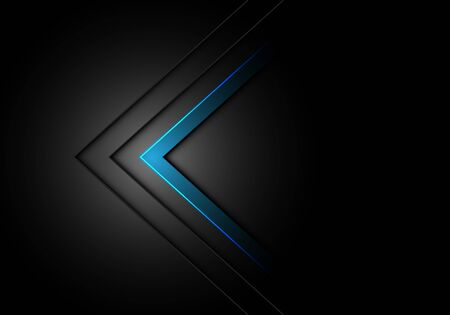 Abstract blue arrow direction dim light on black design modern futuristic background vector illustration.