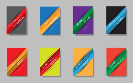 Abstract banner lines design colorful cover set collection on grey background design modern futuristic vector illustration.