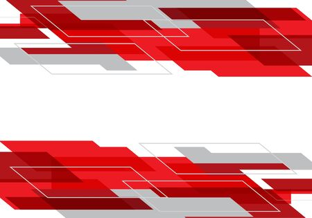 Abstract red grey geometric on white design modern futuristic technology background vector illustration.