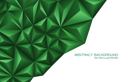 Abstract green triangle 3D on white design modern futuristic background vector illustration. Ilustração