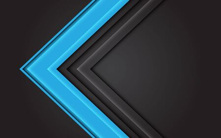 Abstract blue light arrow direction on dark grey design modern futuristic background vector illustration.