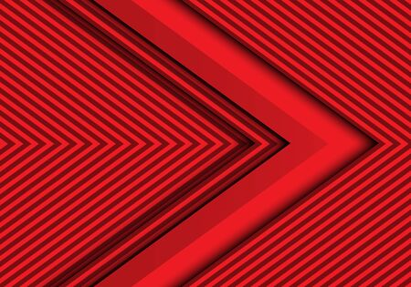 Abstract red arrow pattern design modern futuristic background vector illustration.