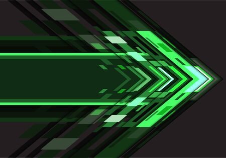 Abstract green white arrow geometric direction design modern futuristic technology background vector illustration.