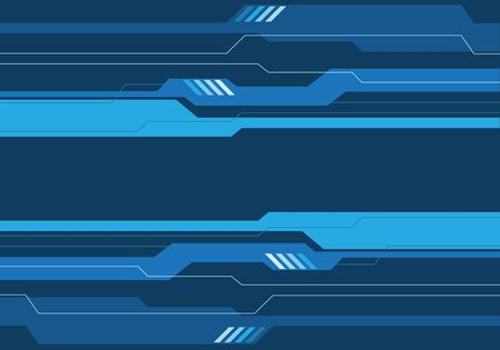 Abstract blue tone circuit futuristic design modern technology background vector illustation.