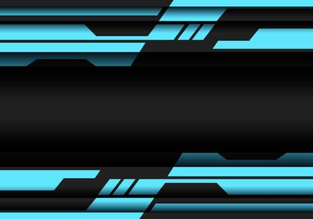 Abstract blue grey geometric cyber futuristic design modern technology background vector illustration. Ilustração