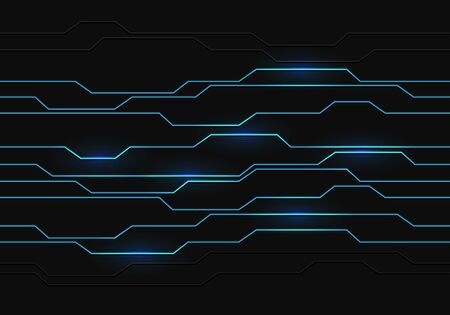 Abstract blue circuit light on dark grey design modern luxury futuristic background vector illustration.