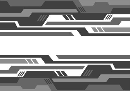 Abstract grey geometric circuit pattern on white design modern futuristic technology background vector illustration.