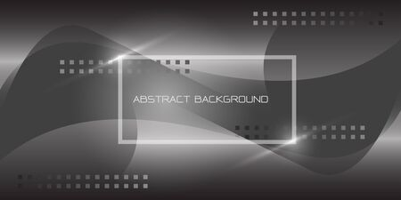 Abstract grey tone geometric minimal with frame and text design modern futuristic background vector illustration. 版權商用圖片 - 135163090
