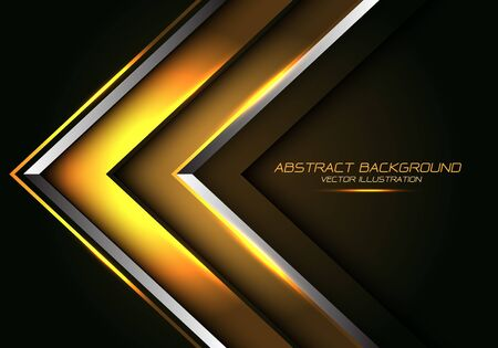 Abstract gold silver line arrow direction design modern luxury futuristic background vector illustration.