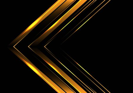 Abstract gold arrow direction on black luxury design modern futuristic background vector illustration. 일러스트